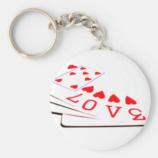 Love is in the Cards Keychain