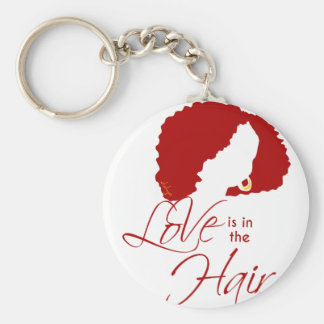 LOVE IS IN THE HAIR KEY CHAIN
