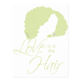 LOVE IS IN THE HAIR POSTCARD