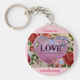 Love is....Keychain Keychain