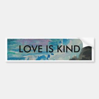 Love is kind bumper sticker