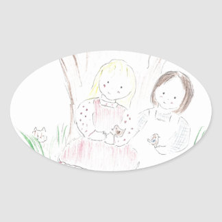 Love is Kind (Mother's Day) Oval Stickers