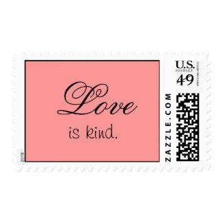 Love is kind postage stamp