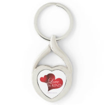Love Is Kind Red Hearts Key Chain