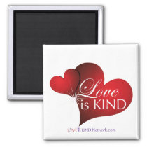 Love Is Kind Red Hearts Magnet