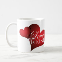 Love Is Kind Red Hearts Mug