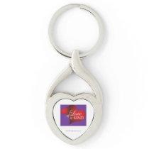 Love Is Kind Red Hearts Purple Key Chain