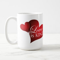 Love Is Kind Red Hearts- Tall Mug