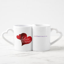 Love Is Kind Red Hearts Two Set Heart Mugs