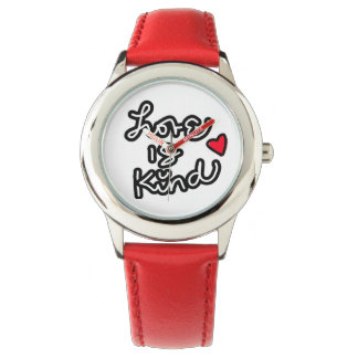 Love is Kind red sports watch