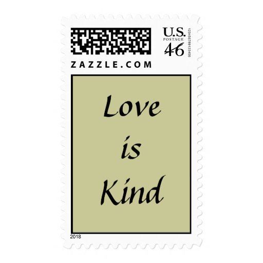 Love is Kind stamp