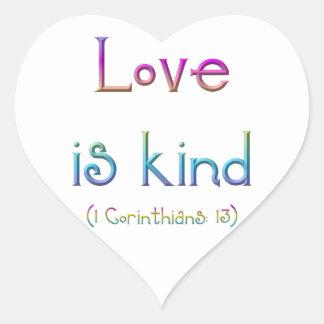 """Love is kind"" Sticker"