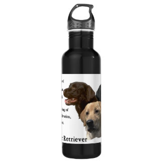 Love Is Labrador Retriever Gifts Stainless Steel Water Bottle