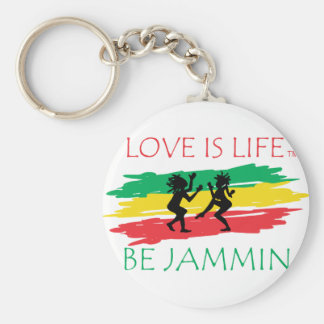 Love is Life Basic Round Button Keychain