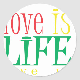 Love is LIfe Classic Round Sticker