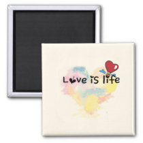 LOVE is life Magnet