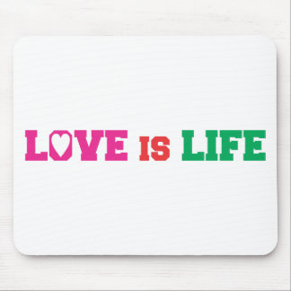 love is life mouse pad