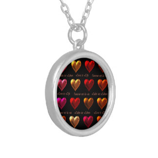 Love is Life Round Pendant Necklace