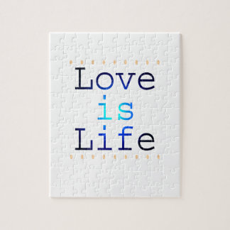 Love is Life Text Jigsaw Puzzles