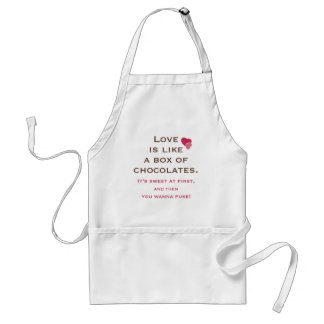 Love is Like a Box of Chocolates Adult Apron