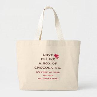 Love is Like a Box of Chocolates Canvas Bag