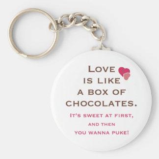 Love is Like a Box of Chocolates Key Chains