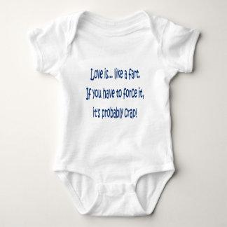 Love is like a fart baby bodysuit
