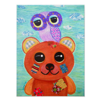 Love Is Like A Handmade Teddy Bear Poster