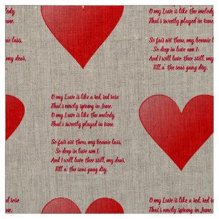 Love Red Rose Fabric Zazzle