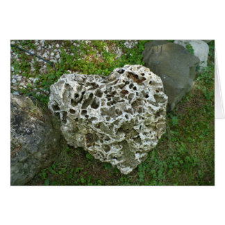 Love is like a rock stationery note card