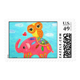 Love Is Like An Elephant Postage Stamps