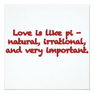 Love is like pi - card