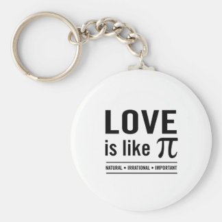 Love Is Like Pi Keychain