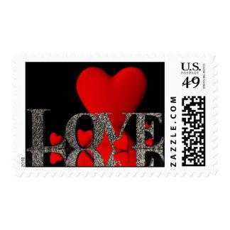 Love is like rock...USA, Heart,  Rock, Love, Postage