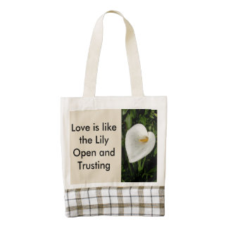 Love Is Like The Lily Zazzle HEART Tote Bag