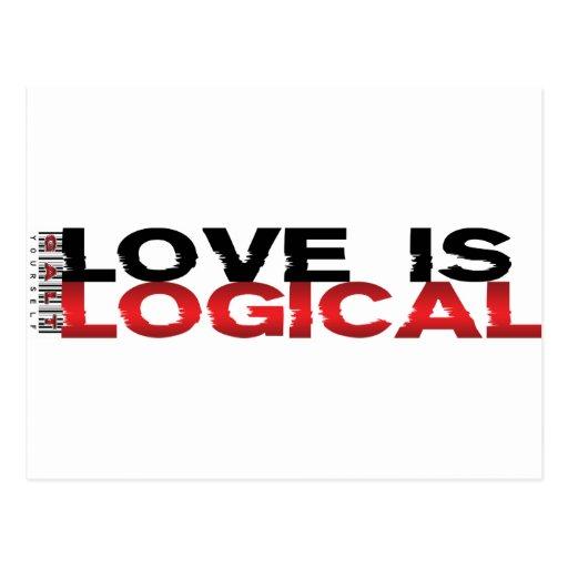 Love Is Logical Postcard