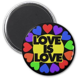 Love is Love 2 Inch Round Magnet