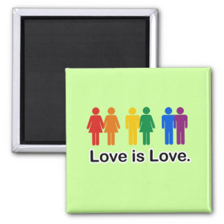 Love is Love 2 Inch Square Magnet