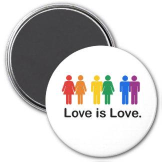 Love is Love 3 Inch Round Magnet