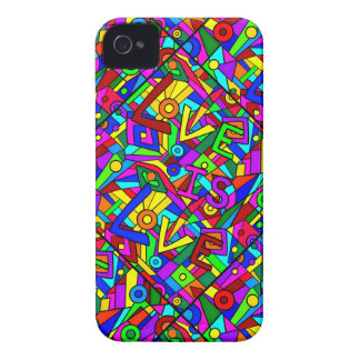 LOVE IS LOVE! (a multi-colored tile design) ~ iPhone 4 Case