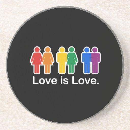 LOVE IS LOVE BASIC DRINK COASTER