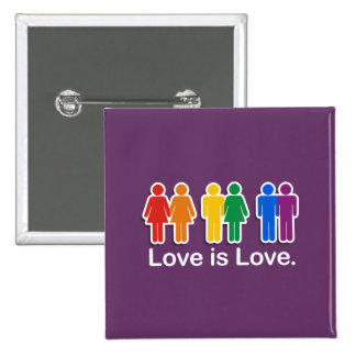 LOVE IS LOVE BASIC PINBACK BUTTON