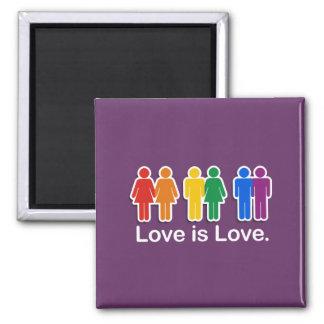 LOVE IS LOVE BASIC REFRIGERATOR MAGNET