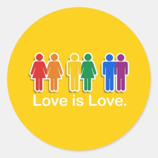 LOVE IS LOVE BASIC ROUND STICKERS
