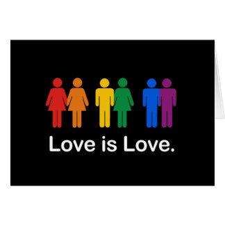 LOVE IS LOVE BLACK CARDS