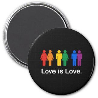 LOVE IS LOVE BLACK REFRIGERATOR MAGNET