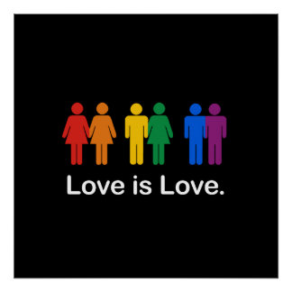 LOVE IS LOVE BLACK POSTERS