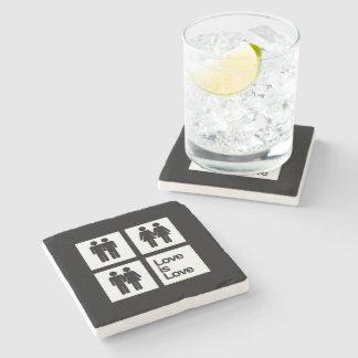 Love is Love Blocks Stone Beverage Coaster