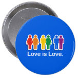 LOVE IS LOVE BLUE PIN