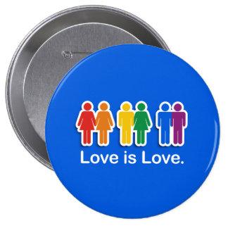LOVE IS LOVE BLUE PIN